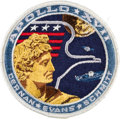"Explorers:Space Exploration, Apollo 17 ""White Eagle"" Embroidered Mission Insignia Crew Patch with AB Emblem Sticker, Directly from the Family Collection of..."