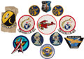 Explorers:Space Exploration, Wally Schirra: His Personal Military Patch Collection, Many Worn by Him, Directly from His Family's Collection....