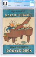 Golden Age (1938-1955):Funny Animal, March of Comics #41 Donald Duck (K. K. Publications, Inc., 1949)CGC VF+ 8.5 Off-white to white pages....