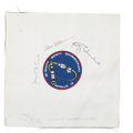 Explorers:Space Exploration, Apollo 9 Crew-Signed Unflown Beta Cloth Mission Insignia Directly from the Personal Collection of Mission Lunar Module Pilot R...