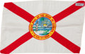 Explorers:Space Exploration, Apollo 16 Flown Larger-Size Florida Flag Directly from the John W. Young Collection, with Letter of Certification. ...
