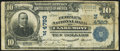 National Bank Notes, Claremont, NH - $10 1902 Plain Back Fr. 628 The Peoples NB Ch. #(N)4793 Fine.. ...