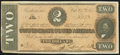 Confederate Notes:1864 Issues, Bogus Back T70 $2 1864 Extremely Fine.. ...