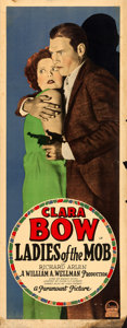 """Movie Posters:Crime, Ladies of the Mob (Paramount, 1928). Fine. Insert (14"""" X 36"""").. ..."""