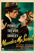 "Movie Posters:Film Noir, Murder, My Sweet (RKO, 1944). Folded, Very Fine-. One Sheet (27"" X41"").. ..."