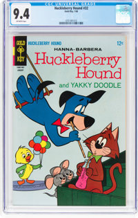 Huckleberry Hound #32 (Gold Key, 1968) CGC NM 9.4 Off-white pages
