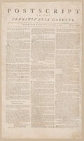 Political:Posters & Broadsides (pre-1896), [Boston Tea Party]: One of the Rarest and Most Significant Broadsides from the Period Leading up to the War for Independence....