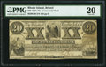 Obsoletes By State:Rhode Island, Bristol, RI- Commercial Bank $20 July 1, 1863 G60 Durand 105 PMG Very Fine 20.. ...