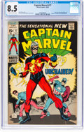 Silver Age (1956-1969):Superhero, Captain Marvel #17 (Marvel, 1969) CGC VF+ 8.5 Off-white to white pages....