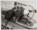 Explorers:Space Exploration, Chuck Yeager Signed Vintage Edwards AFB Photo. ...