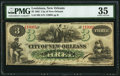 Obsoletes By State:Louisiana, New Orleans, LA- City of New Orleans $3 Oct. 24, 1862 PMG Choice Very Fine 35.. ...