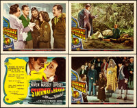"Stairway to Heaven (Universal International, 1946). Very Fine+. Title Lobby Card & Lobby Cards (3) (11"" X 1..."