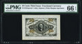 Fractional Currency:Third Issue, Fr. 1255SP 10¢ Third Issue Wide Margin Face PMG Gem Uncirculated 66 EPQ.. ...