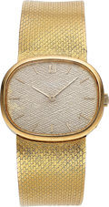 Timepieces:Wristwatch, Patek Philippe, Vintage Golden Ellipse Ref. 3545/2j, 18K YellowGold, Manual Wind, Circa 1970. ...