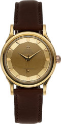 Timepieces:Wristwatch, Omega, Constellation Pie Pan Dial, 18k Gold, Circa 1954. ...