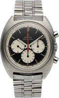 Timepieces:Wristwatch, Omega, Seamaster Ref. 145-016-68, Steel Three Register Chronograph, Circa 1968. ...