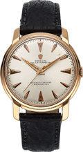 Timepieces:Wristwatch, Rolex, Ref. 8144, 18k Rose Gold, Manual Wind, Circa 1940's. ...