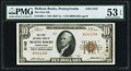 National Bank Notes:Pennsylvania, McKees Rocks, PA - $10 1929 Ty. 1 The First NB Ch. # 5142 PMG About Uncirculated 53 EPQ.. ...