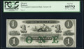 Obsoletes By State:Rhode Island, Newport, RI - New England Commercial Bank $1 18__ Remainder PCGS Gem New 66PPQ.. ...