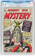 Silver Age (1956-1969):Superhero, Journey Into Mystery #85 (Marvel, 1962) CGC VF- 7.5 Off-white towhite pages....