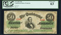 Confederate Notes:1863 Issues, T57 $50 1863 PCGS Choice New 63.. ...