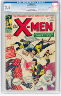 Silver Age (1956-1969):Superhero, X-Men #1 UK Edition (Marvel, 1963) CGC GD+ 2.5 Off-white to whitepages....