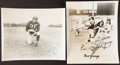 Football Collectibles:Photos, Red Grange & Ace Parker Signed Photograph Pair (2)....