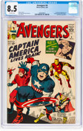 Silver Age (1956-1969):Superhero, The Avengers #4 (Marvel, 1964) CGC VF+ 8.5 Off-white pages....