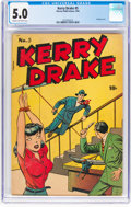 Golden Age (1938-1955):Crime, Kerry Drake Detective Cases #5 (Harvey, 1944) CGC VG/FN 5.0 Cream to off-white pages....