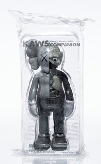 KAWS (b. 1974) Dissected Companion (Grey), 2016 Painted cast vinyl 14-3/4 x 5-1/2 x 3-1/2 inches