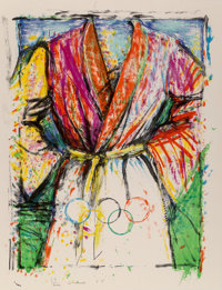 Jim Dine (b. 1935) Olympic Robe, from Official Arts Portfolio of the XXIVth Olympiad, Seoul, Korea</