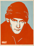 Prints & Multiples:Print, Shepard Fairey (b. 1970). Ian Mackaye, 2002. Screenprint in colors on speckled cream paper. 24 x 18 inches (61 x 45.7 cm...