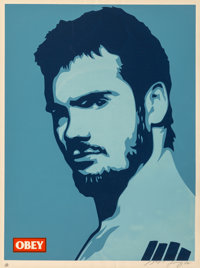 Shepard Fairey (b. 1970) Rollins Poster, 2002 Screenprint in colors on speckled cream paper 24 x