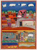 Prints & Multiples:Print, Shalom Moskowitz (1895-1980). Night of Redemption, n.d.. Lithograph in colors on wove paper. 29-7/8 x 22 inches (75.9 x ...