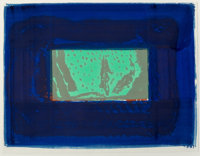 Howard Hodgkin (1932-2017) Birthday Party, 1977-78 Lithograph with gouache in colors on Arches paper
