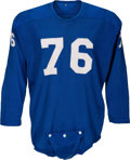 Football Collectibles:Uniforms, Circa 1957 Lou Creekmur Game Worn Detroit Lions Jersey, MEARS A8.5....