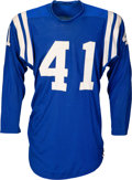 Football Collectibles:Uniforms, 1961-63 Tom Matte Game Worn Baltimore Colts Jersey. ...