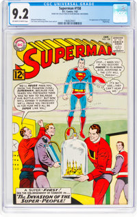 Superman #158 (DC, 1963) CGC NM- 9.2 Off-white to white pages