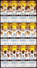Basketball Collectibles:Others, 2016 NBA Finals Ticket Sheet Trio (3 Sheets - 12 Total FullTickets) - Game 1, 2, 5 - Cleveland Cavaliers FirstChampionship!...