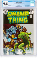 Bronze Age (1970-1979):Horror, Swamp Thing #6 (DC, 1973) CGC NM 9.4 White pages....