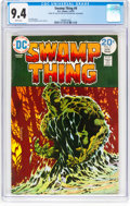 Bronze Age (1970-1979):Horror, Swamp Thing #9 (DC, 1974) CGC NM 9.4 White pages....