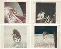 """Explorers:Space Exploration, Apollo 9: Collection of Four Original NASA """"Red Number"""" Color Photos, all Taken in Earth Orbit. ..."""