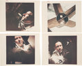 """Explorers:Space Exploration, Apollo 7: Collection of Four Original NASA Color Photos, Three with """"Red Numbers"""", Each of the Crewmembers Onboard and the Sat..."""
