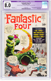Fantastic Four #1 (Marvel, 1961) CGC Apparent VF 8.0 Moderate (P) Off-white to white pages