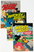 Golden Age (1938-1955):Miscellaneous, Four Color - Mickey Mouse Group of 4 (Dell, 1947-49) Condition: Average VF....