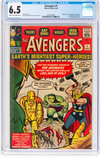 The Avengers #1 (Marvel, 1963) CGC FN+ 6.5 Cream to off-white pages