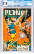 Golden Age (1938-1955):Science Fiction, Planet Comics #46 (Fiction House, 1947) CGC NM- 9.2 Off-white to white pages....