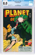 Golden Age (1938-1955):Science Fiction, Planet Comics #47 (Fiction House, 1947) CGC VF 8.0 Off-white to white pages....