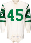 Football Collectibles:Uniforms, Early 1970's Earlie Thomas Game Worn New York Jets Jersey....