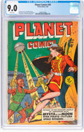 Golden Age (1938-1955):Science Fiction, Planet Comics #59 (Fiction House, 1949) CGC VF/NM 9.0 White pages....